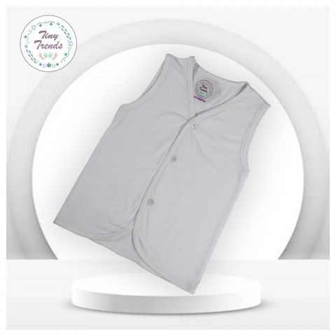 Tiny Trends Single Jersey S/L Inner, White, 3 Pieces