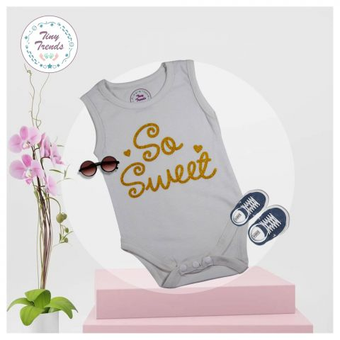 Tiny Trends So Sweet S/L Body Suit, White