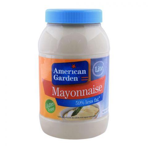 American Garden Lite Mayonnaise, 59% Less Fat, Gluten Free, 30oz/887ml