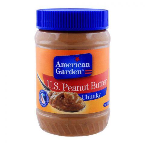 American Garden U.S. Peanut Butter, Chunky, 510g