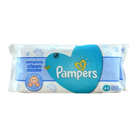 Pampers Complete Clean Baby Wipes 64-Pack