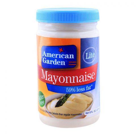 American Garden Lite Mayonnaise, 59% Less Fat, Gluten Free, 8oz/237ml