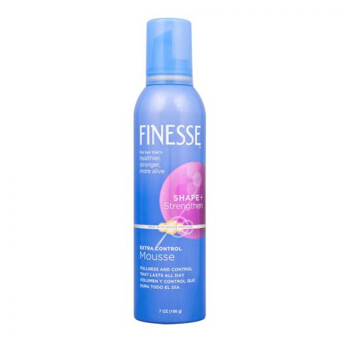 Finesse Shape + Strengthen Extra Control Hair Hair Mousse, 198g