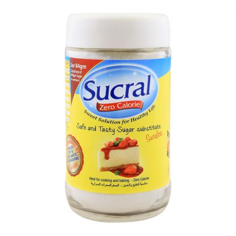 Sucral Zero Calorie Sweetener, Jar Pack, 84g