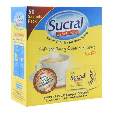 Sucral Zero Calorie Sweetener Sachet, 50-Pack