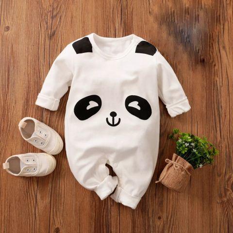 Baby Nest Jumpsuit Panda, Black & White