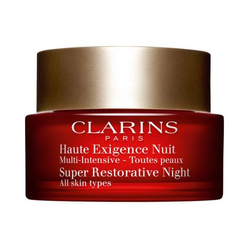 Clarins Paris Super Restorative Night Age Spot Correcting Cream, All Skin Types, 50ml
