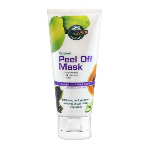 Hollywood Style Original Peel Off Mask, Papaya, Cucumber & Grapes, 150ml