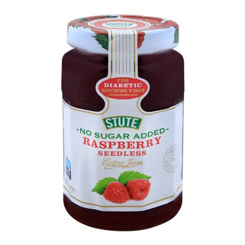 Stute No Sugar Added Raspberry Seedless Jam 430g