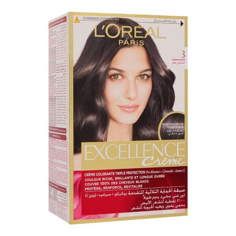 L'Oreal Paris Excellence Creme Hair Colour, Dark Brown 3