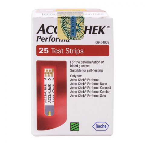 Accu-Chek Performa Blood Glucose Strip, 25 Count