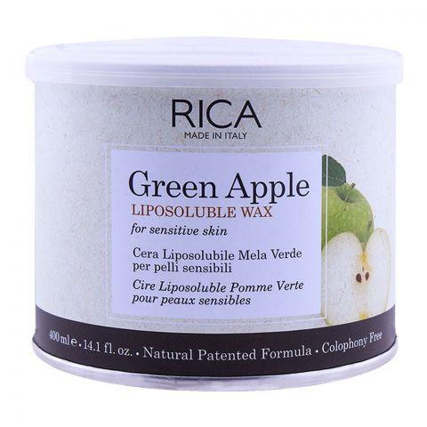 RICA Green Apple Sensitive Skin Liposoluble Wax 400ml