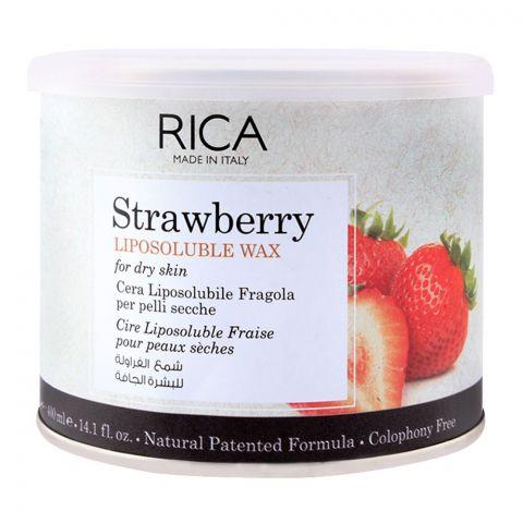 RICA Strawberry Dry Skin Liposoluble Wax 400ml
