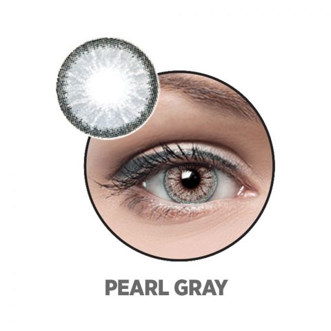 Optiano Soft Color Contact Lenses, Pearl Grey
