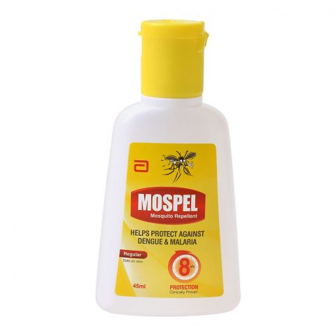 Mospel Mosquito Repellent, Regular, Protects Against Dengue & Malaria, 45ml