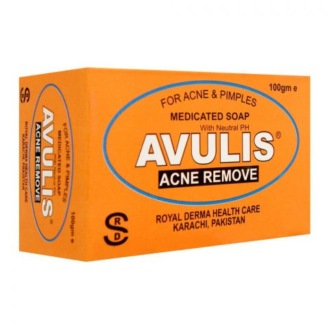 Royal Derma Avulis Medicated Soap, For Acne & Pimples, 100g