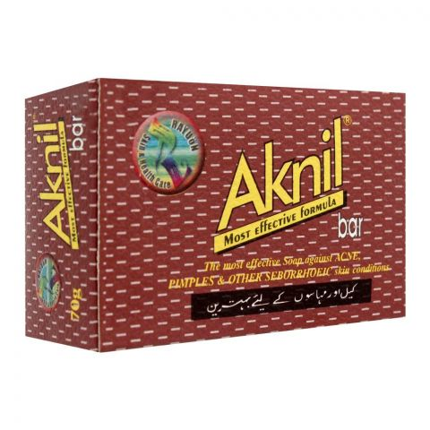 Aknil Soap Bar, For Acne & Pimples, 70g