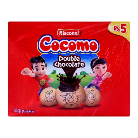 Bisconi Cocomo Double Chocolate, 24 Tikky Packs