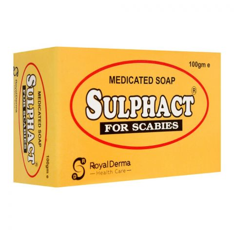 Royal Derma Sulphact Medicated Soap, For Scabies, 100g