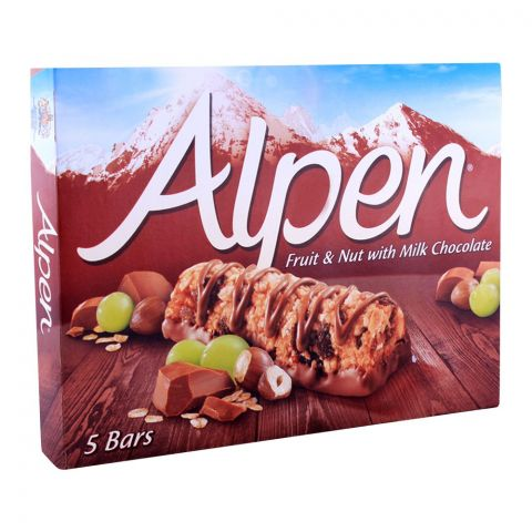 Alpen Light Fruit & Nut With Milk Chocolate Cereal Bars 5-Pack