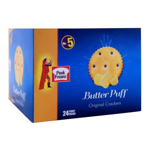 Peek Freans Butter Puff Original Biscuit, 24 Ticky Packs