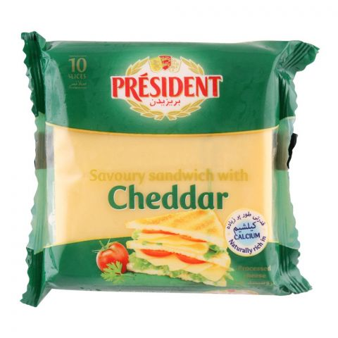 President Cheddar Cheese Sandwich Slices, 10-Pack