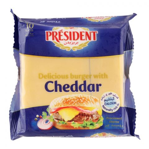 President Cheddar Cheese Burger Slices, 10-Pack