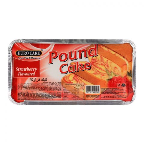 Euro Pound Cake Strawberry 323gm