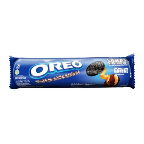Oreo Peanut Butter & Chocolate Cookies, Imported Roll 137g