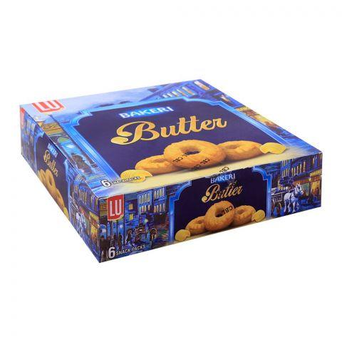 LU Bakeri Butter Cookies, 6 Snack Packs