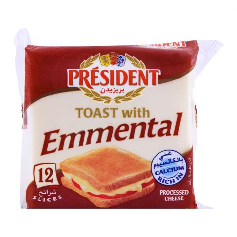President Emmental Toast Cheese, 12 Slices