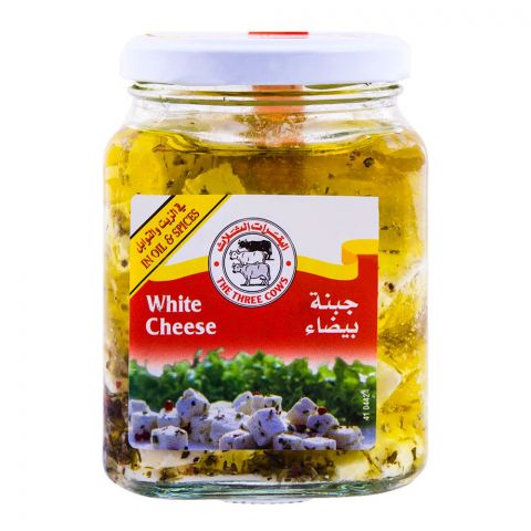 The Three Cows White Cheese, In Oil & Spices, 300g