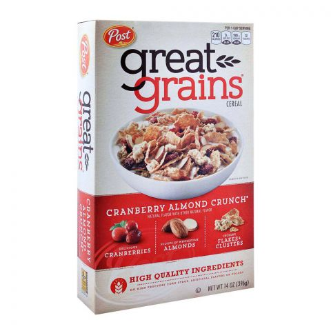 Post Great Grain Cranberry Almond Crunch Cereal 396g