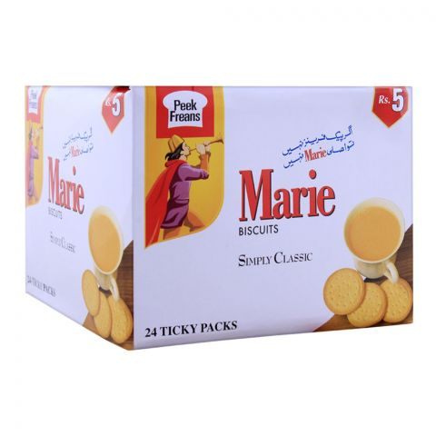 Peek Freans Marie Biscuit, 24 Ticky Packs