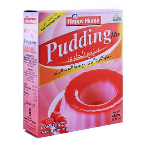 Happy Home Raspberry Pudding Mix 60g