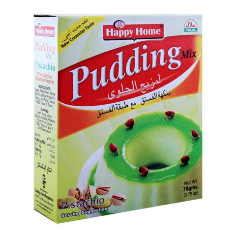 Happy Home Pista (Pistachio) Pudding Mix 60g