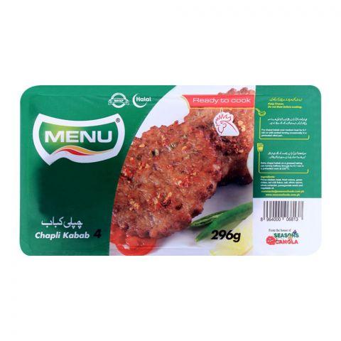 Menu Chapli Kabab, 4 Pieces, 296g