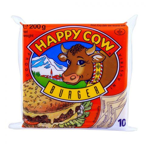 Happy Cow Burger Slice Cheese 200g