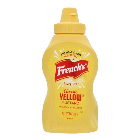 French's Classic Yellow Mustard, 8oz, 226g