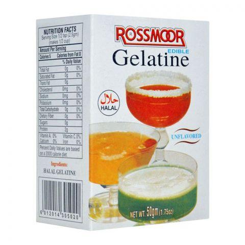 Rossmorr Edible Gelatin, Unflavored, 50g