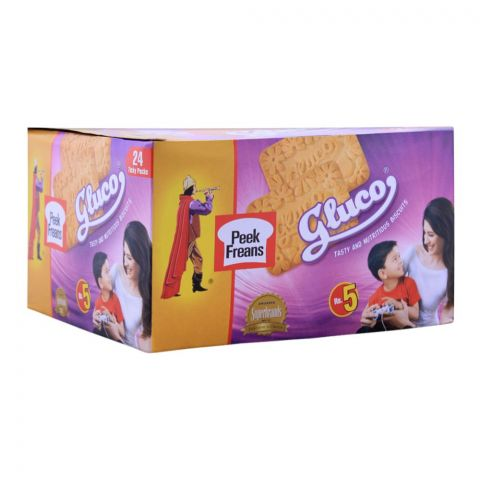 Peek Freans Gluco Biscuit, 24 Ticky Packs