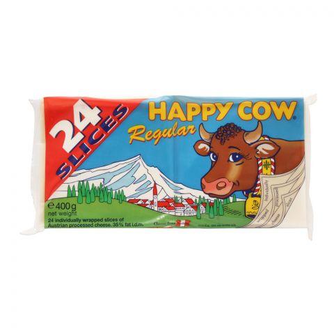 Happy Cow Regular Cheese Slice, 24-Pack, 400g