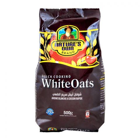 Nature's Own Brand White Oats, Quick Cooking, 500g, Pouch