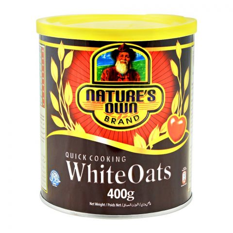 Nature's Own Quick Cooking White Oats, 400g, Tin