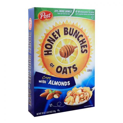 Post Almonds Honey Brunches of Oats Cereal 510g