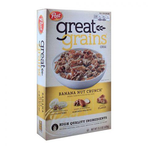 Post Great Grain Banana Nut Crunch Cereal 439g