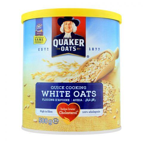 Quaker White Oats, Tin, 500g