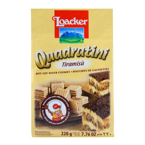 Loacker Quadratini Tiramisu Wafer 220gm