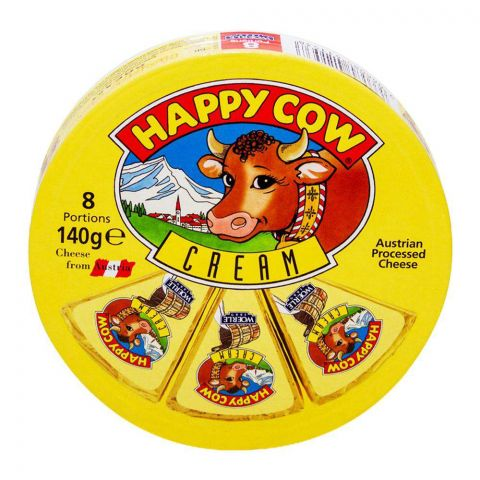 Happy Cow Cream Cheese, 8 Portion 140g