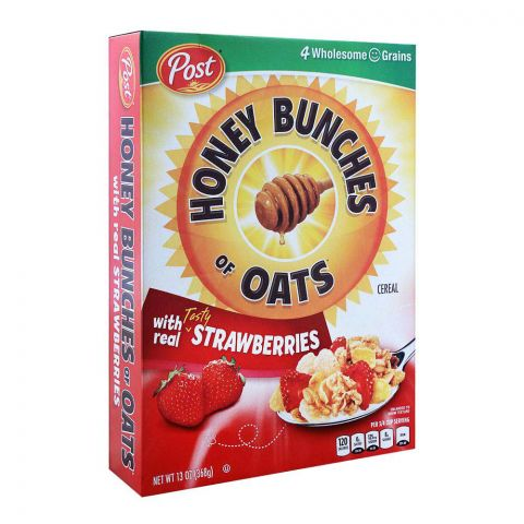 Post Strawberries Honey Bunches of Oats Cereal 368g